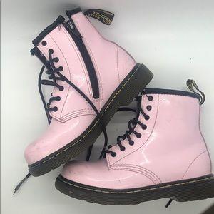 Dr. Martens kids pink boots